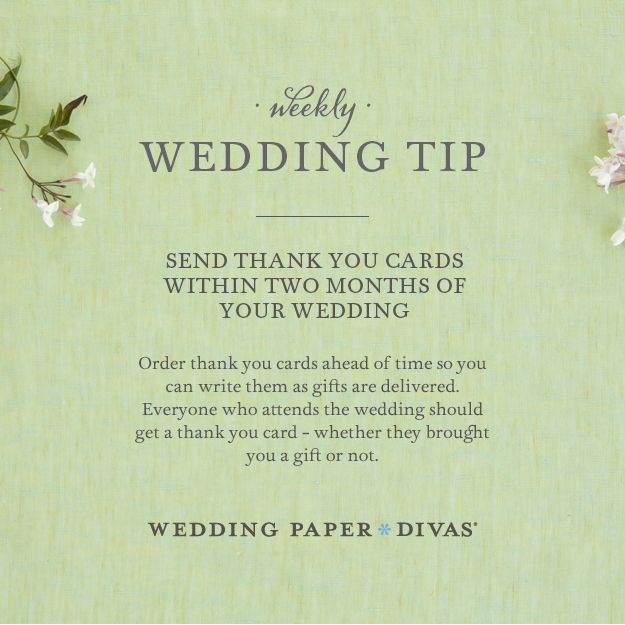 Ask Etta Wedding Thank You Notes Timeline  Wedding Order
