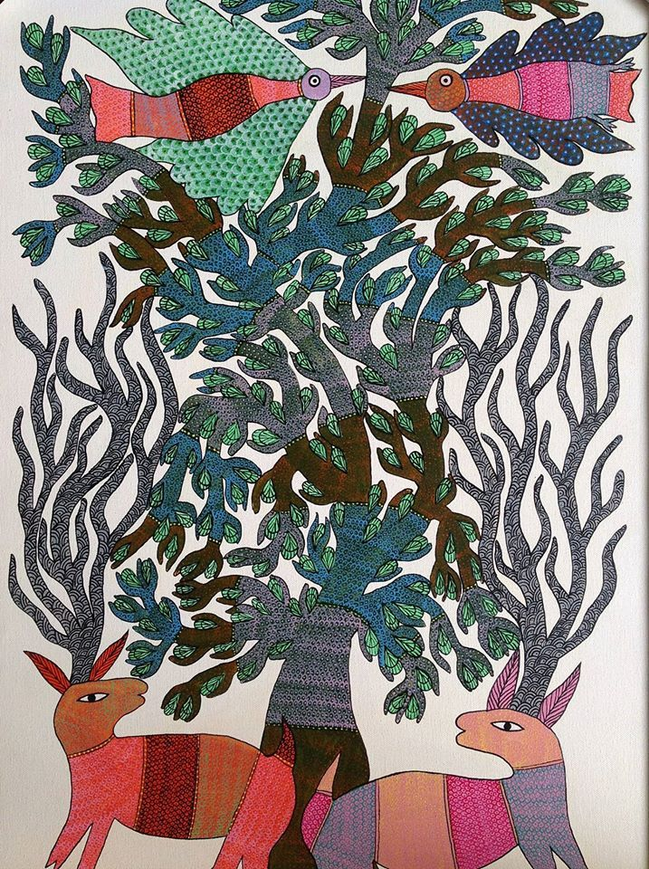 Gond Paintings from Central India