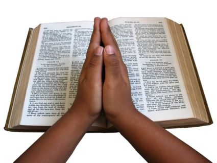 images of children praying hands   Praying Hands Bible (With ...