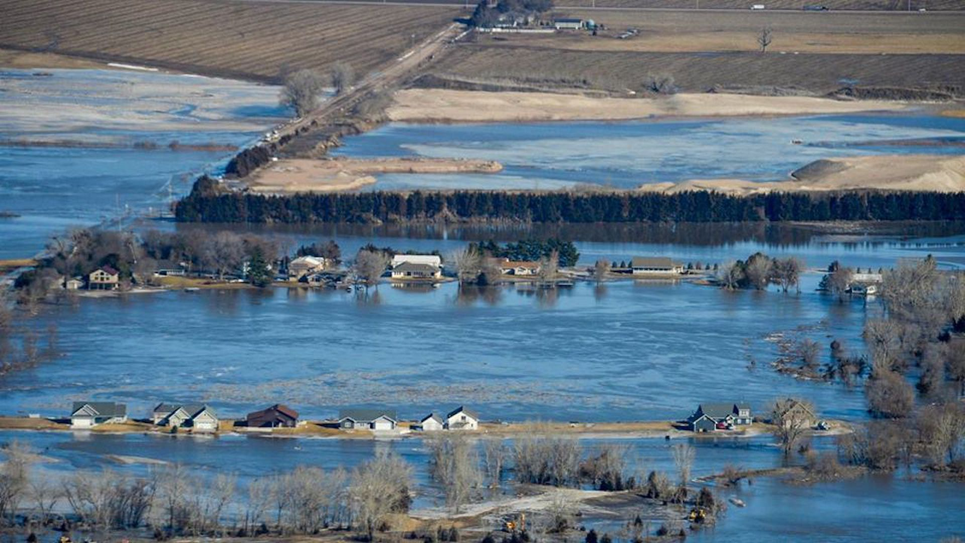 Heavy rain and snowfall sparked the worst flooding