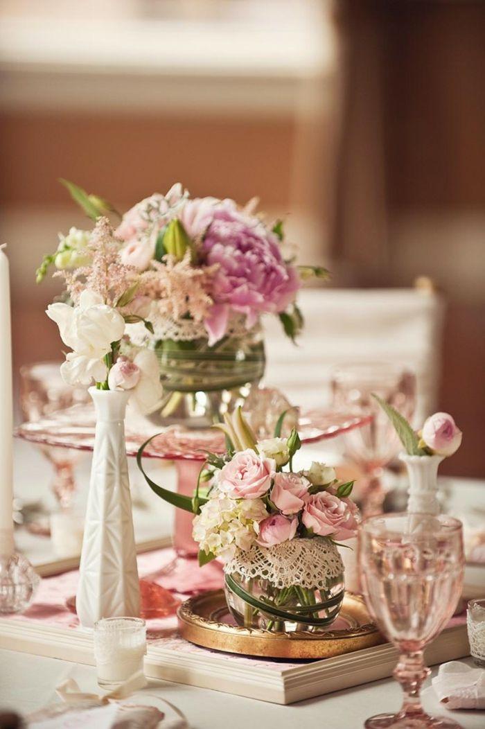 vintage und shabby chic elemente bei der hochzeitsdekoration vintage dekorationen hochzeiten rosen ideen
