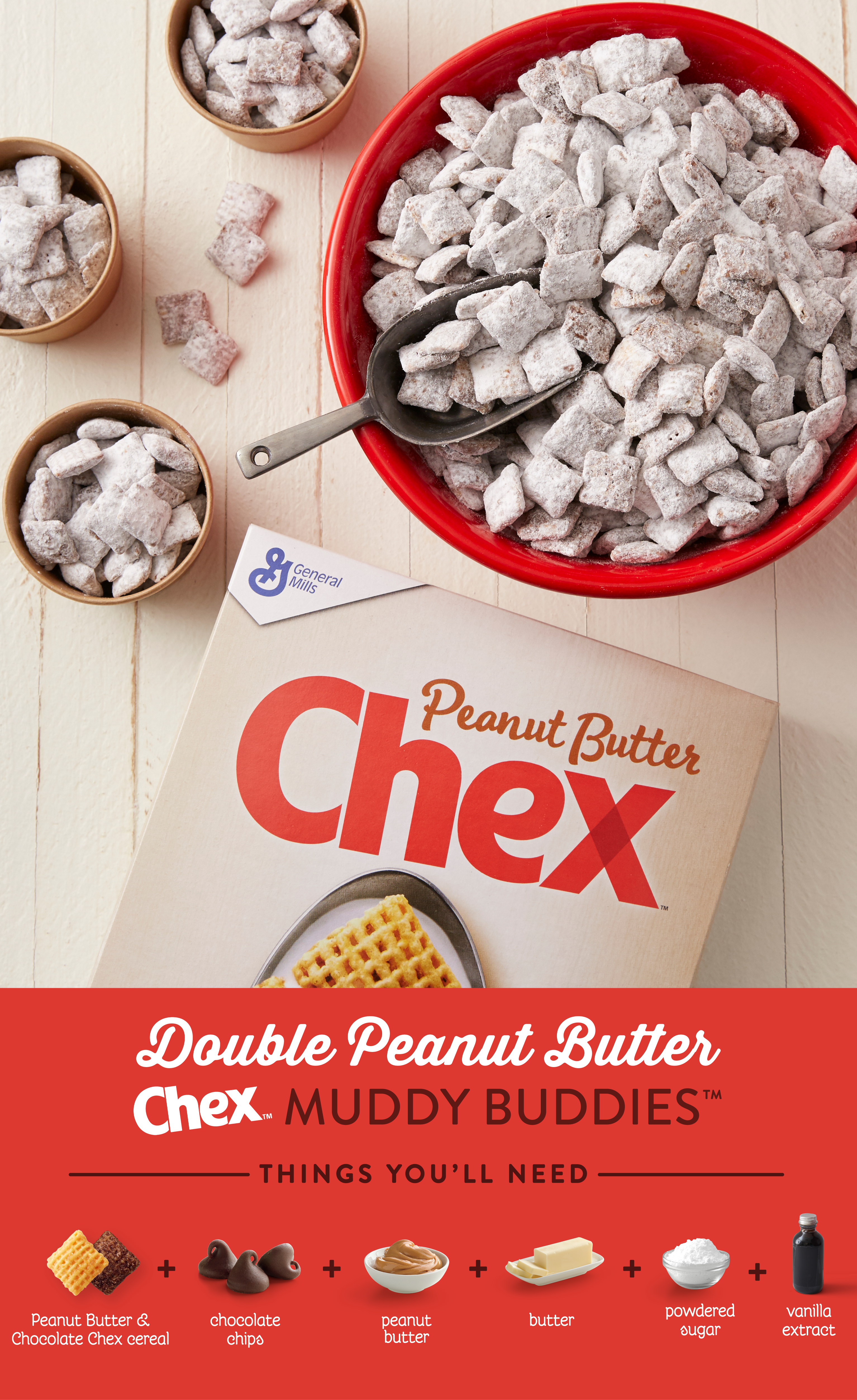 Double Peanut Butter Muddy Buddies Chex Recipe Sweet Snacks Delicious Desserts Dessert Recipes