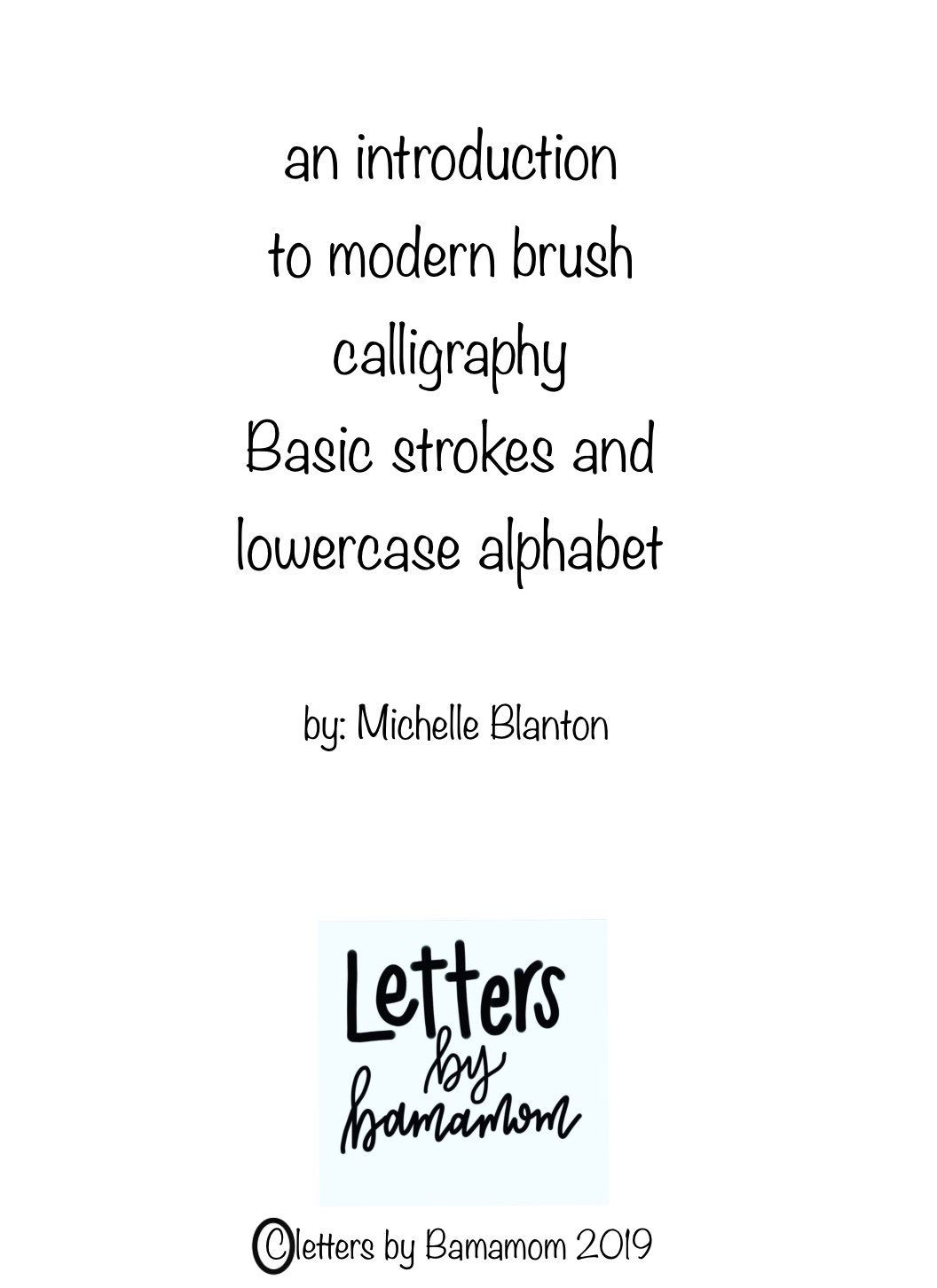 Beginners Worksheets For Modern Calligraphy Hand Lettering
