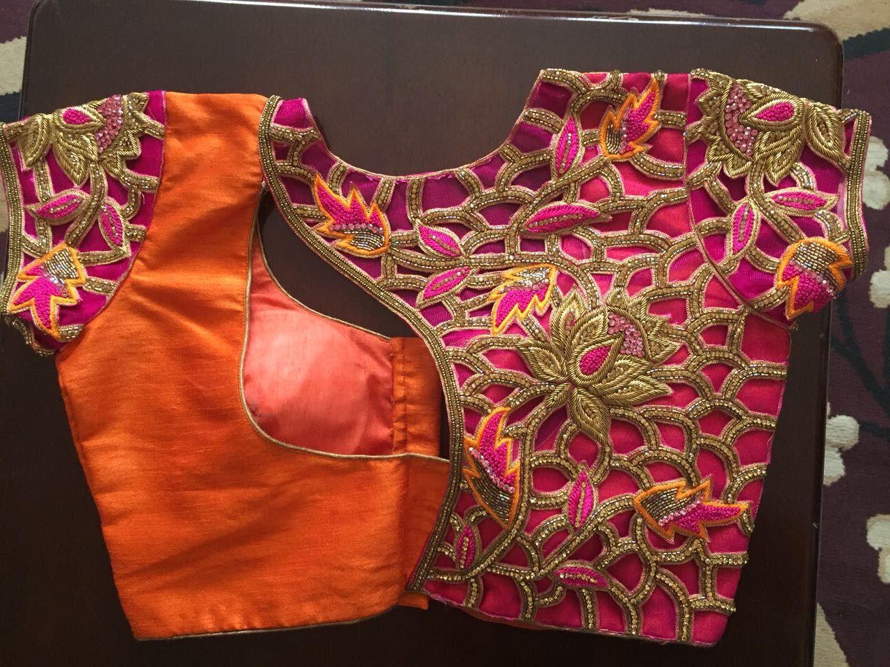 Design of saree blouse pin by nidhi raj on saree blouse design  pinterest  blouse designs