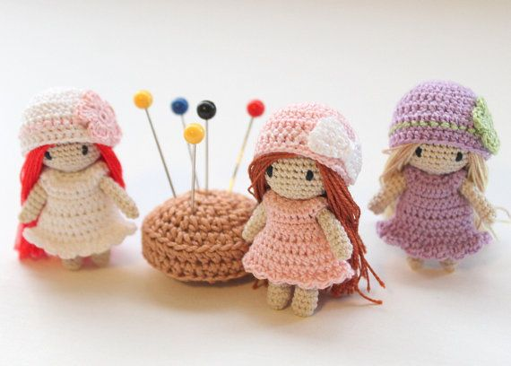 Crochet Mini Doll Pattern : Two little gnome - Waldorf toy - Needle felted art doll ...