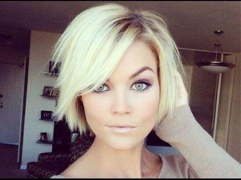 Düz Kesim Kısa Saç Modelleri Bayan Youtube Hair Pinterest