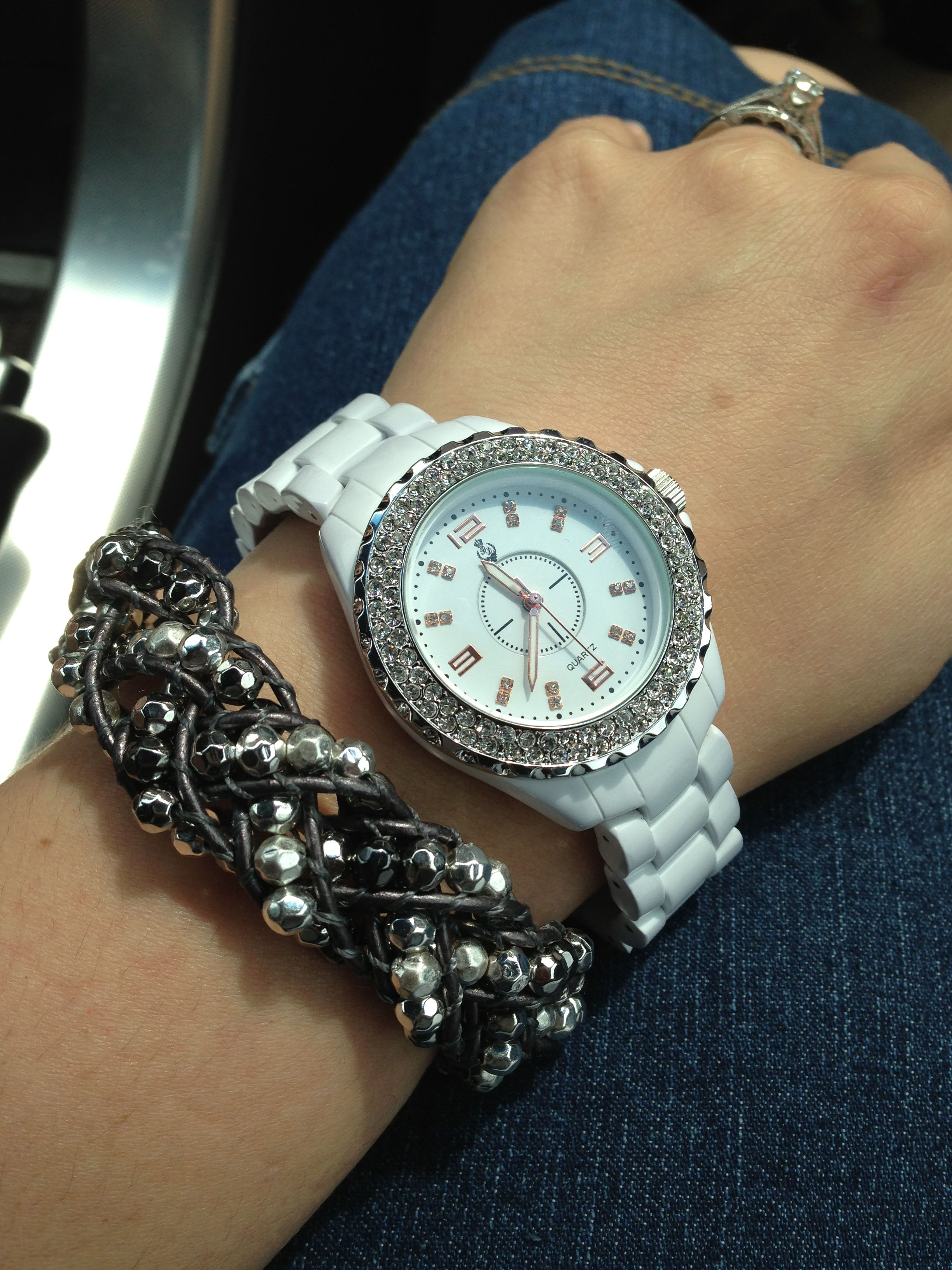 Premier Designs White Hot Watch And It S A Wrap Bracelet Braided