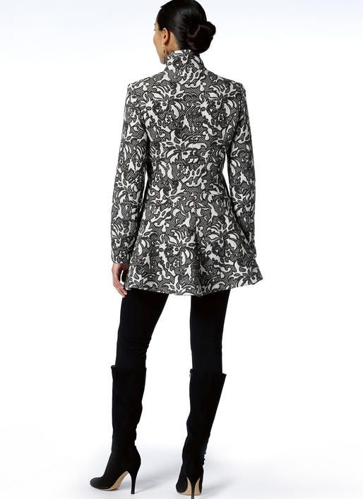 The back of this coat is perfect for ladies with junk in the trunk ...