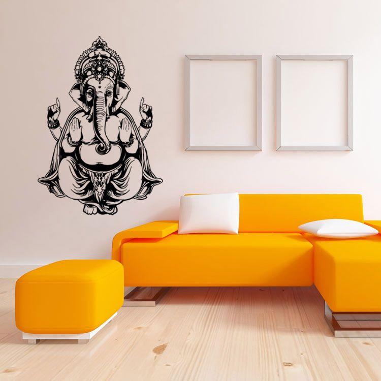 murah ganesh dinding decal sticker, dekorasi rumah buddha patung