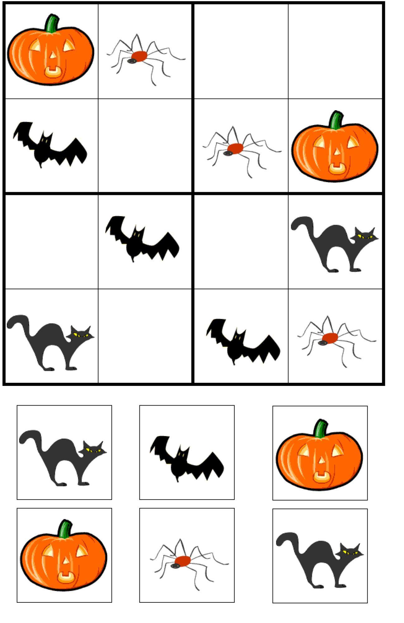 Halloween Sudoku Worksheet