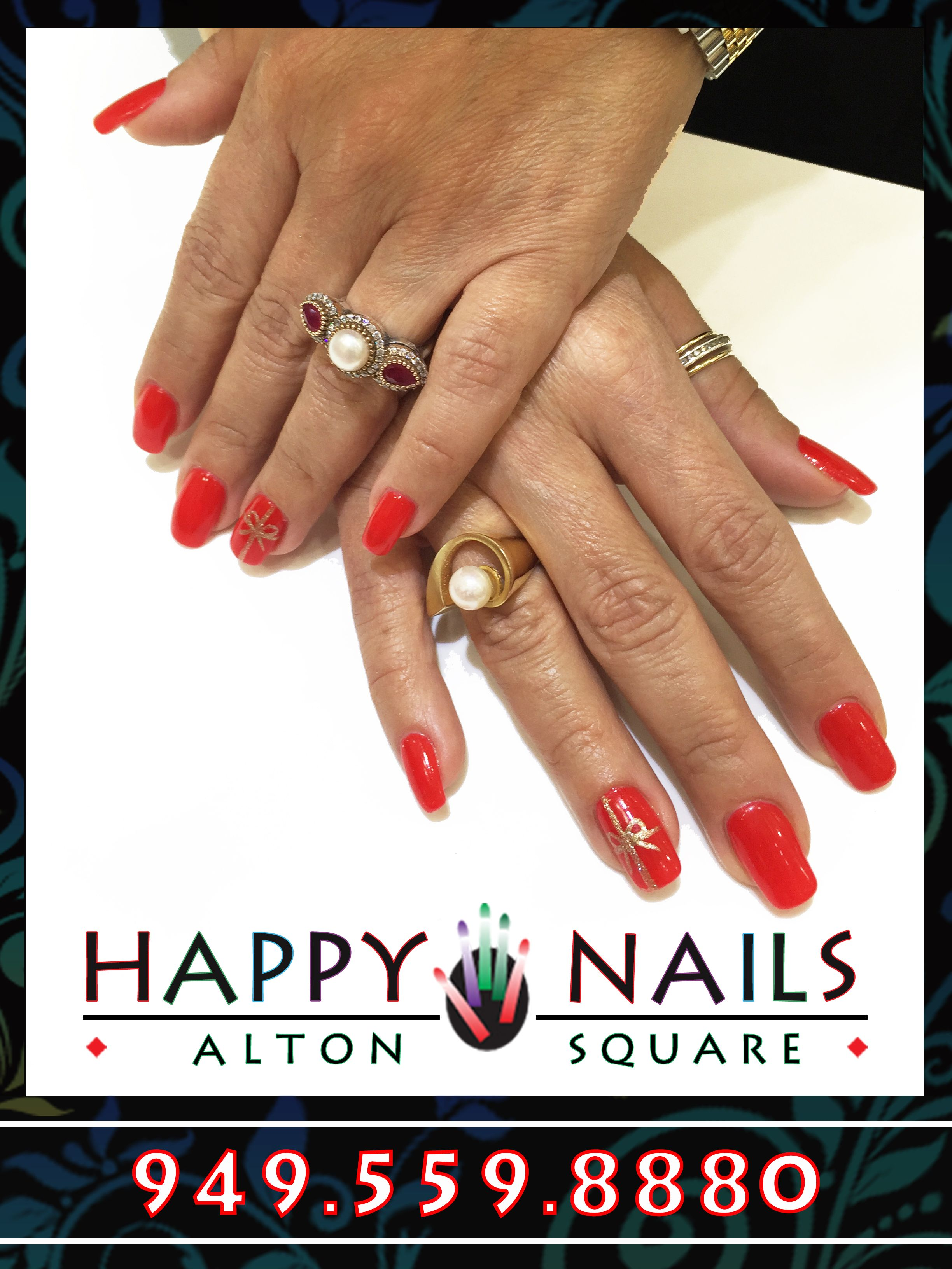 Christmas Design by Cece at Happy Nails of Alton Irvine | nail ...