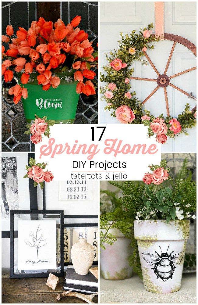 17 Beautiful Spring Home DIY Projects! is part of Home Accessories Decor DIY Projects - 17 Beautiful Spring Home DIY Projects  Spring is trying its hardest to peer through the winter snow! Here are 17 Spring Home DIY Projects from this week's Best Friday Features!