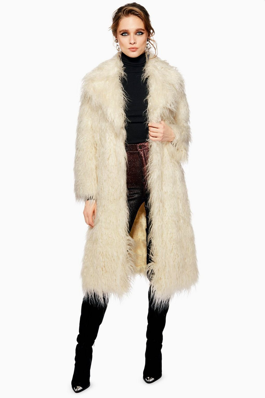 c3a5ac90b Mongolian Faux Fur Coat, 2019 | topshop | Coat, Fur Coat ve Faux fur
