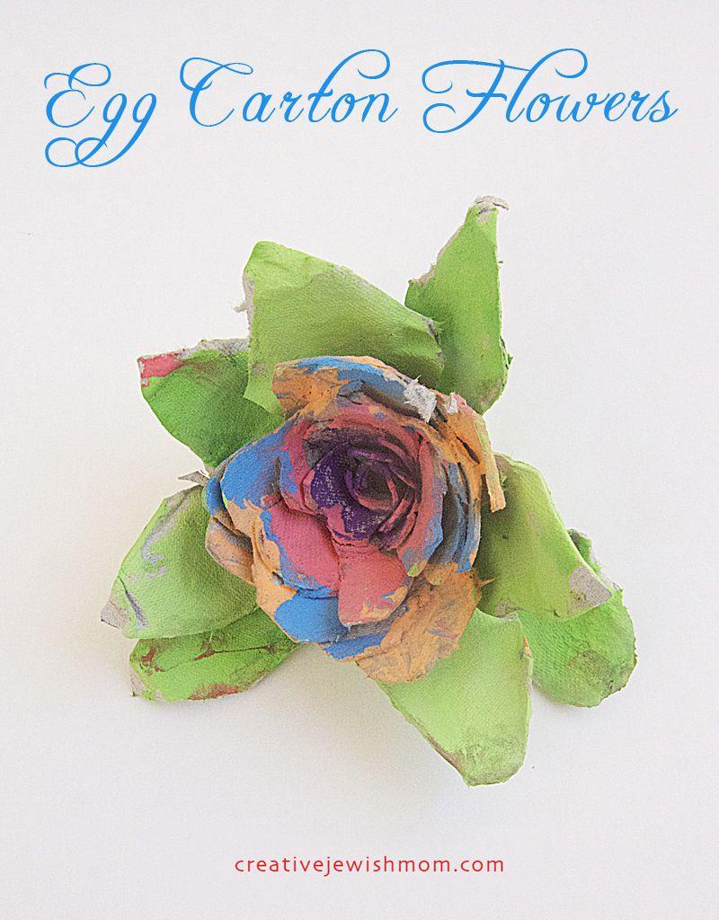 Flower Craft Egg Carton Flowers  Do It Yourself  Pinterest