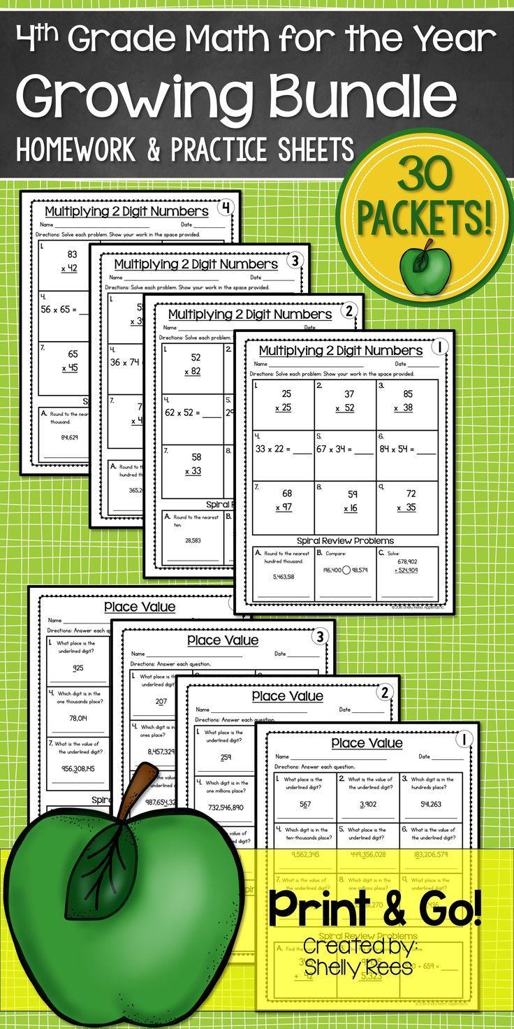 4th Grade Math Homework | Pinterest | Differentiation, Math and Homework