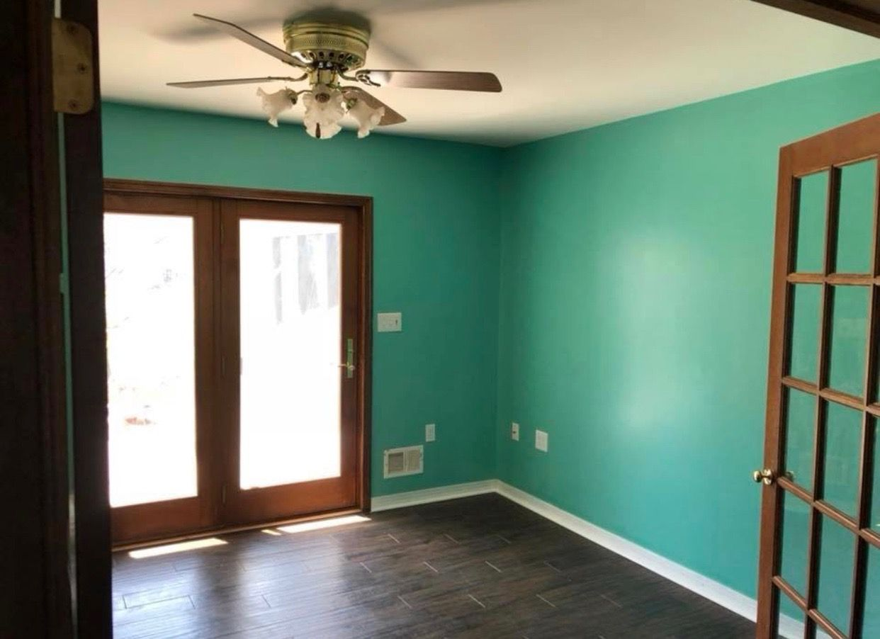 paint color is sherwin williams larchmere interior house on indoor wall paint colors id=55130