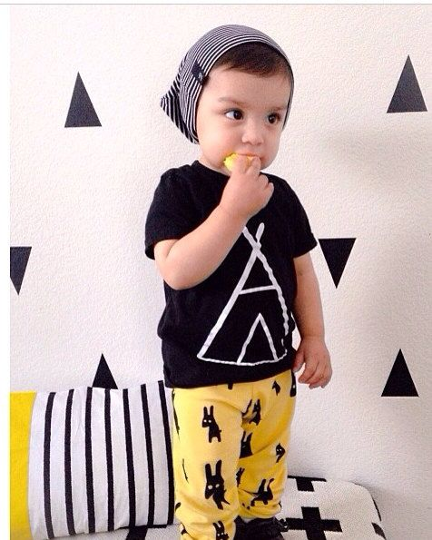 White TeePee or Gold on Black Tee Tshirt - Boys or Girls ...