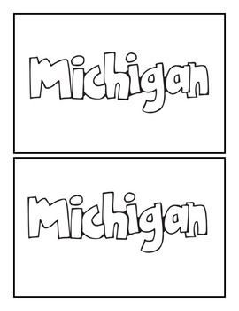 A book about the state of Michigan.Facts and symbols of