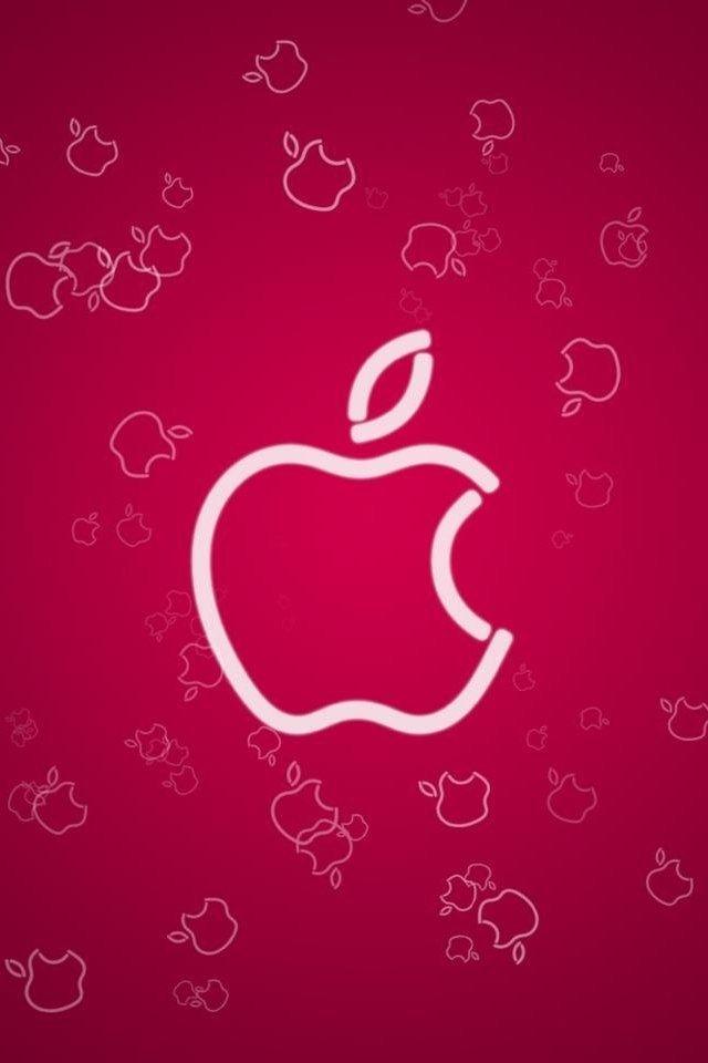 hd cute pink apple iphone 4s wallpapers Ipad mini