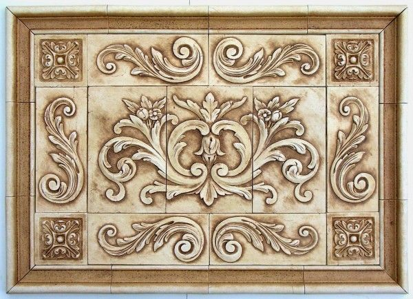 Decorative Tile Inserts Pleasing Andersen Ceramics Backsplash Murals And Designs For Hand Pressed Review