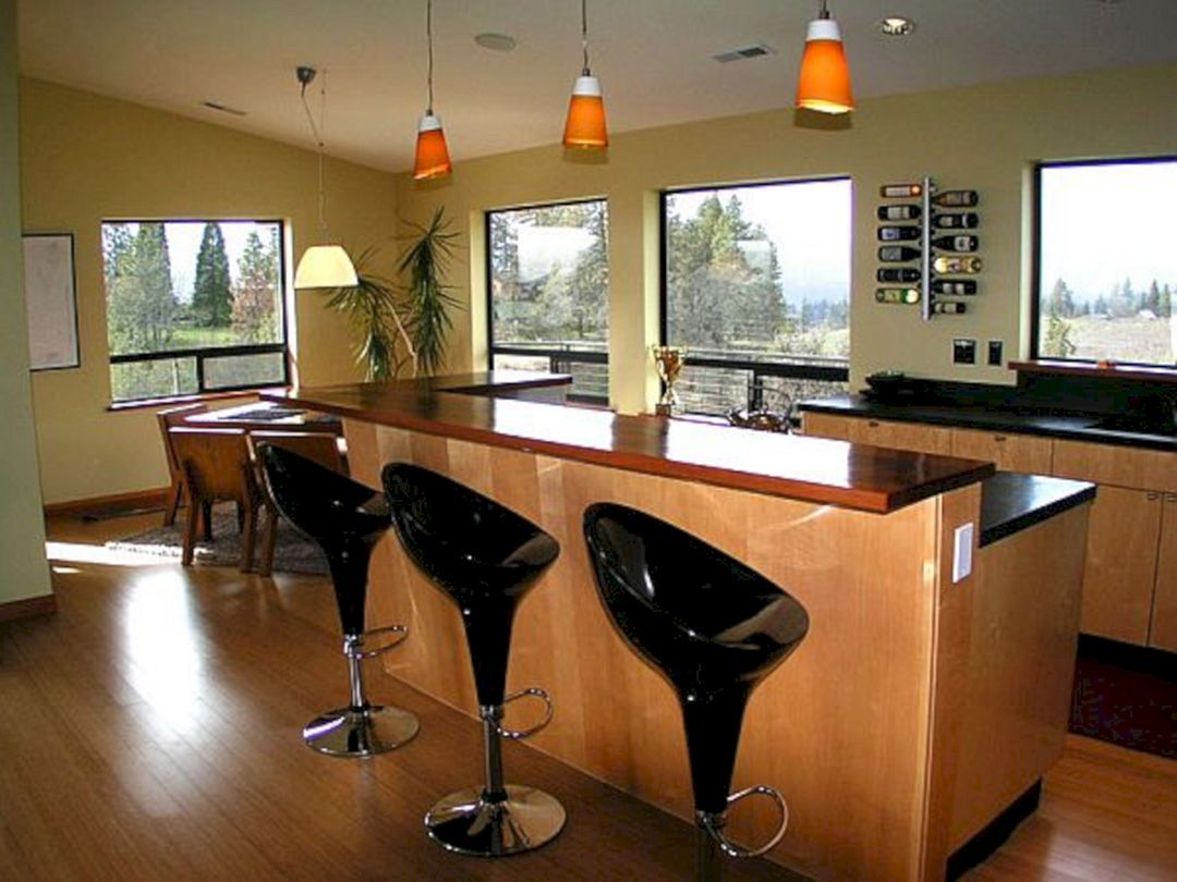 Marvelous 9+ Awesome Kitchen Countertop Bar Designs Ideas For ...