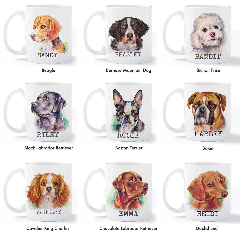Dog Breeds Personalized Coffee Mug Personalized