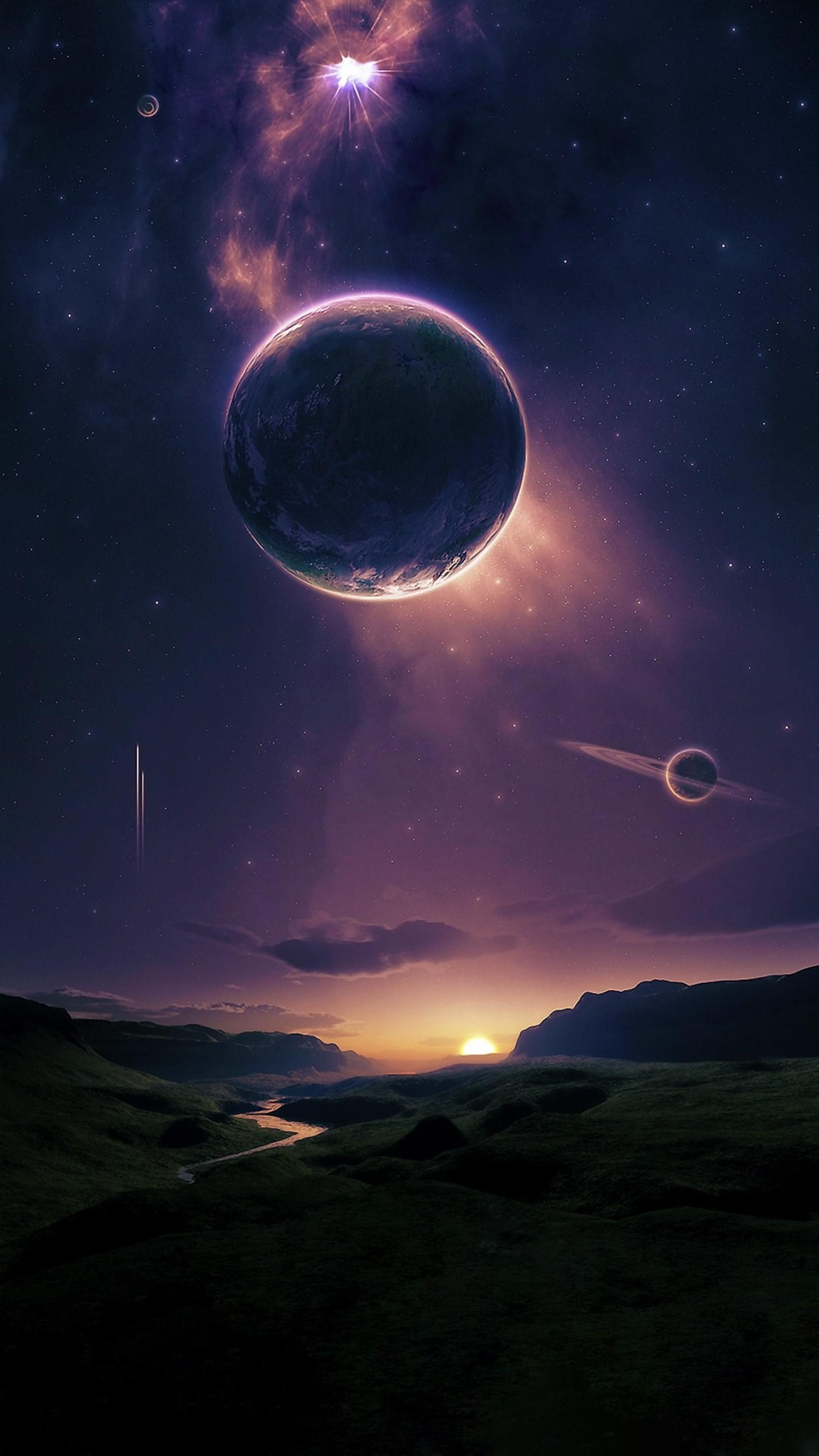 Space 4k Wallpaper 7 Iphone Wallpaper Sky Sci Fi Wallpaper Fantasy Landscape