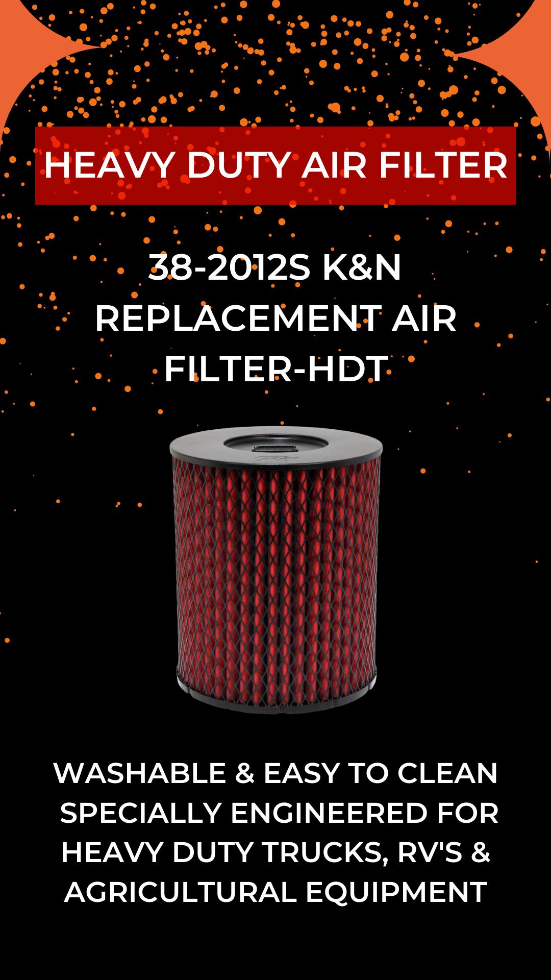 382012S K&N Replacement Air FilterHDT in 2020 Air