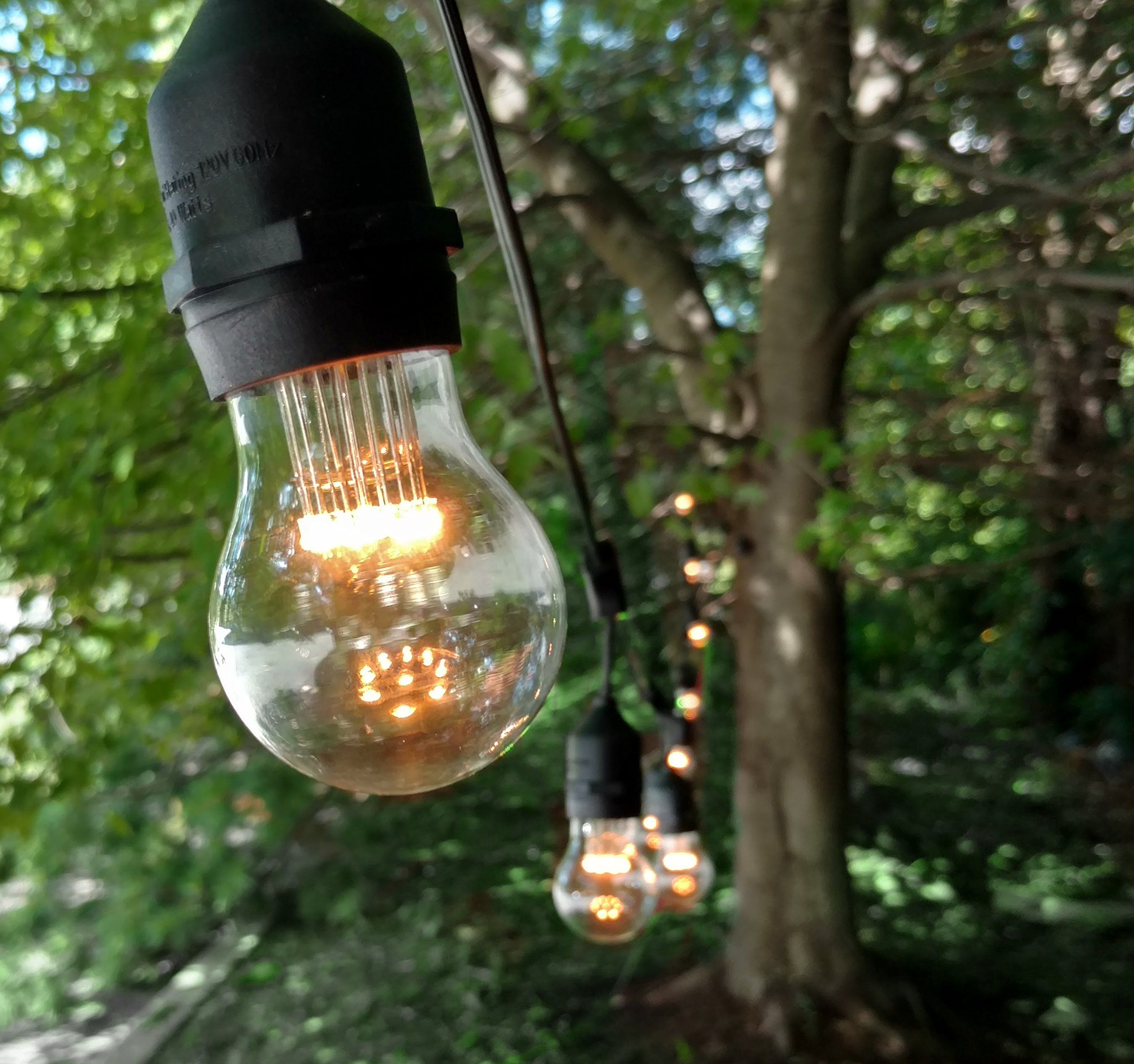 E26 outdoor commercial string lights with suspended socket for e26 outdoor commercial string lights with suspended socket for weatherproof heavy duty vintage outside lighting 100 foot 50 socket a15 led 9 diode 1 watt aloadofball Image collections