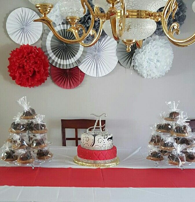 Simple But Elegant Red Gray And White Theme Party White Party