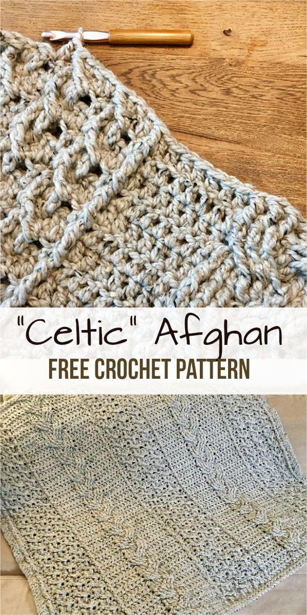 Celtic Afghan [Free Crochet Pattern | Häkeldecke, Häkeln und Pinwand