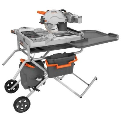 Ridgid 10 In Variable Speed Commercial Tile Saw R4090 At The Home Depot Tile Saw Commercial Tile Tiles