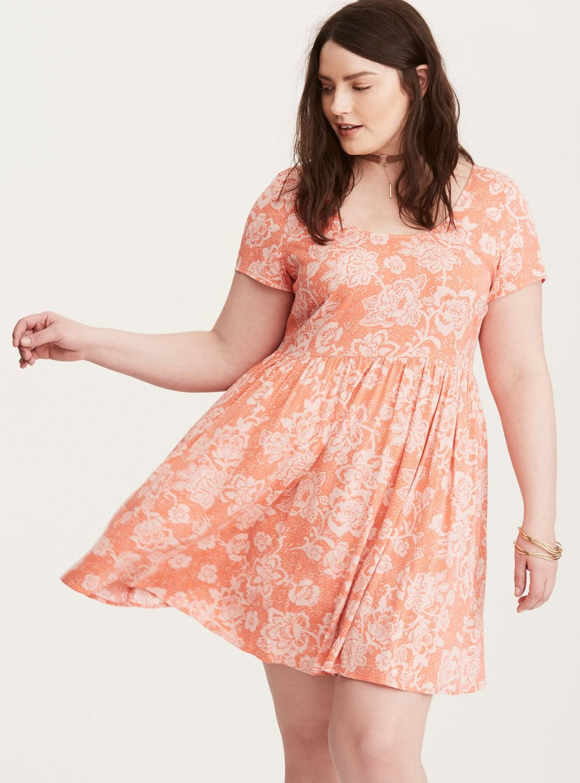 3098dd4ab5 Floral Print Crossback Stretch Challis Dress  Plus Size Clothing   TORRID