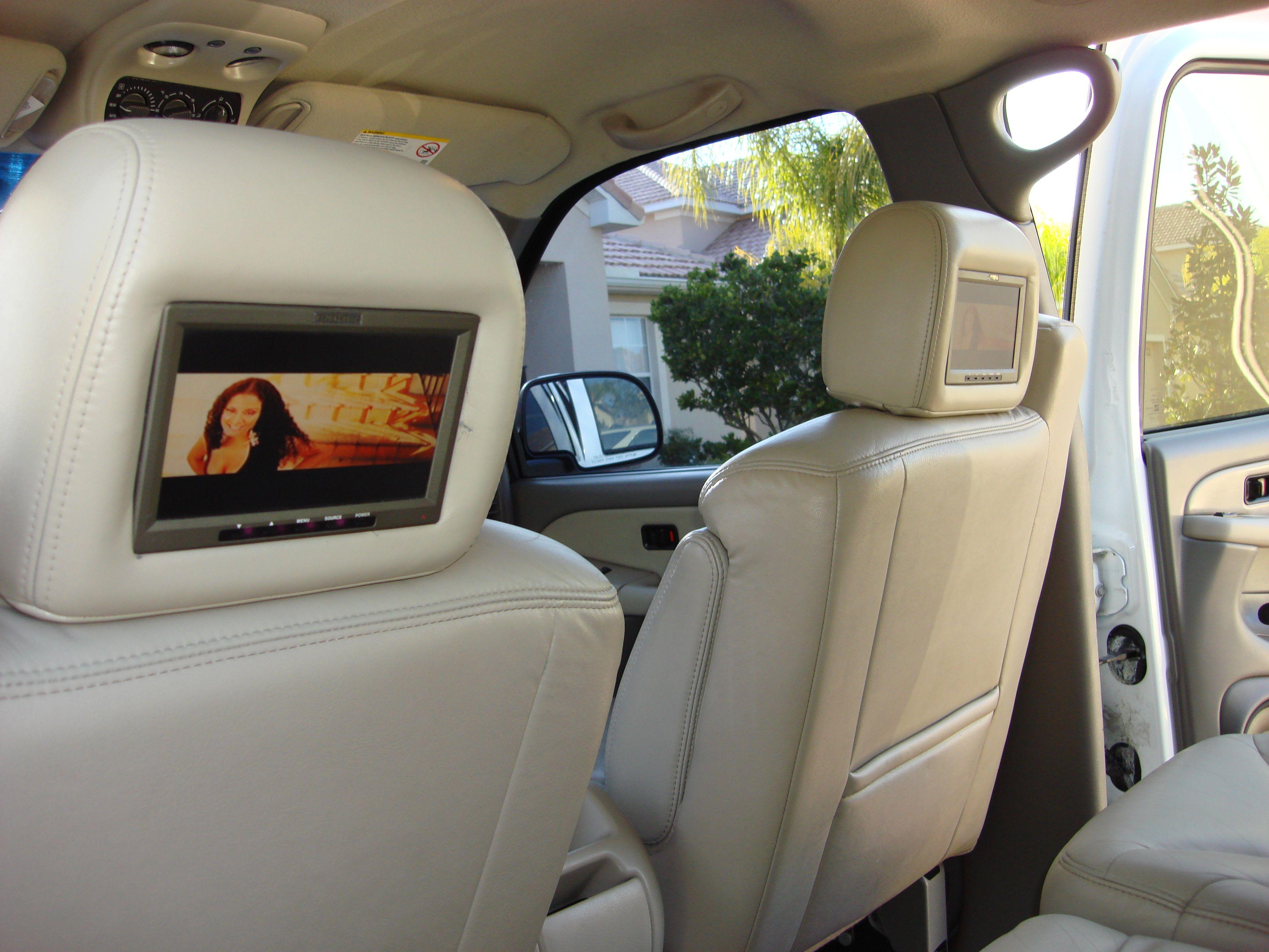 Built In Tv Monitors In Headrest Car Seats Yukon Denali Headrest