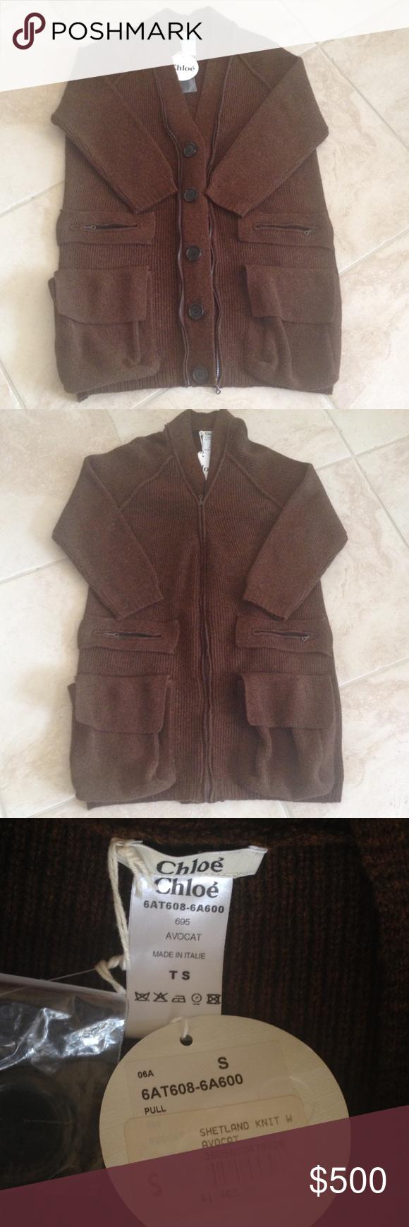 Chloe sweater coat AUTH CHLOE Sweater Coat 100% wool, brand new with tag, retail $1465.00 CHLOE Jackets & Coats