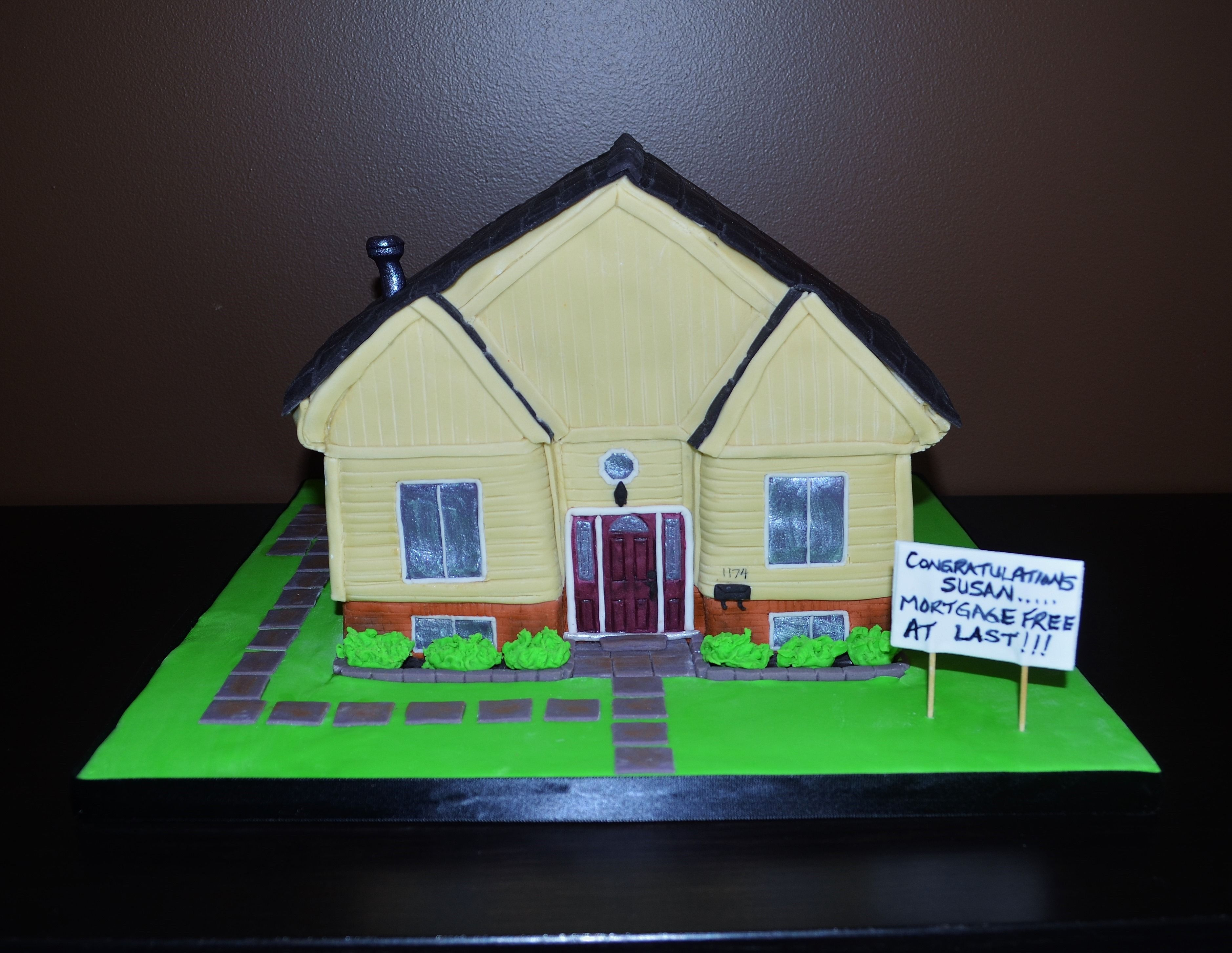 House Cake A Replica House To Celebrate Being Mortgage Free House Cake Sculpted Cakes Rubiks Cube