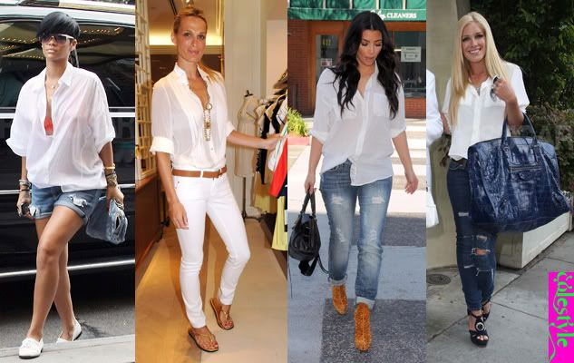 COLESTYLE: Summer look : White T-shirt   Jeans  {denim