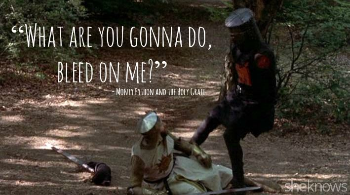 Best Monty Python Quotes 15 best quotes from monty python and the holy grail bleed (709×395  Best Monty Python Quotes