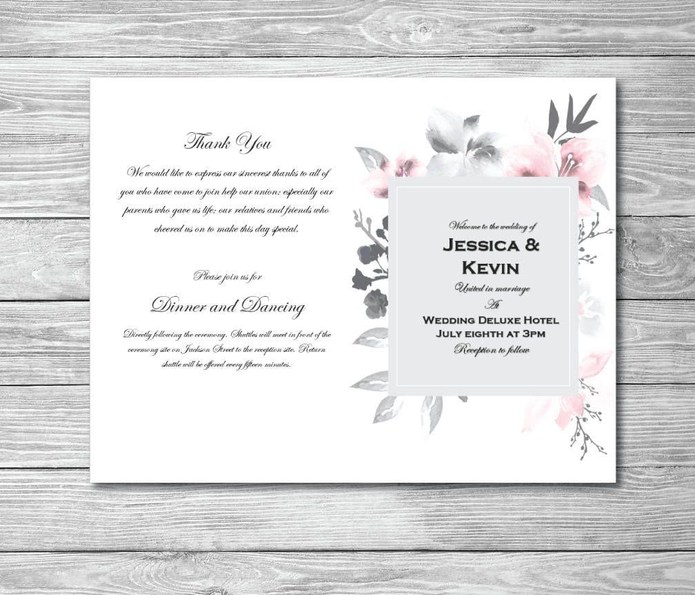 Printable Wedding Program Printable Wedding Program Template Order Printable Wedding Program Template Printable Wedding Programs Wedding Programs Template Microsoft office wedding program template