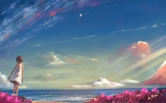 خلفيات انمي للكمبيوتر والجوال عالية الدقة مداد الجليد Anime Scenery Wallpaper Anime Scenery Scenery Wallpaper