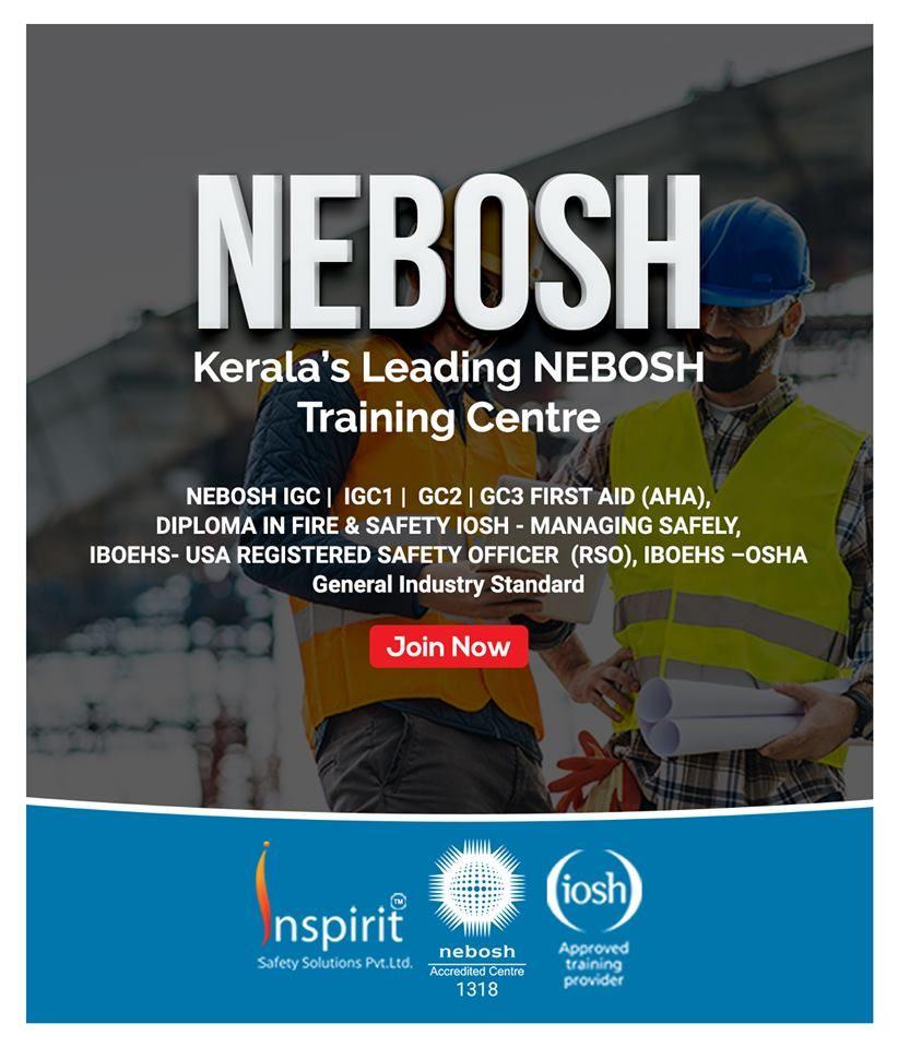 Enroll For NEBOSH Training Courses In Kerala. Kerala's