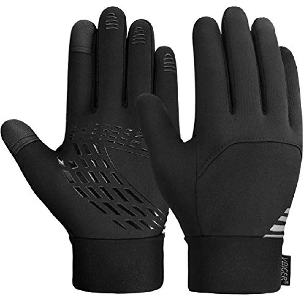 Winter Leder Handschuhe Damen Herren Fingerhandschuhe Touchscreen Wasserdicht