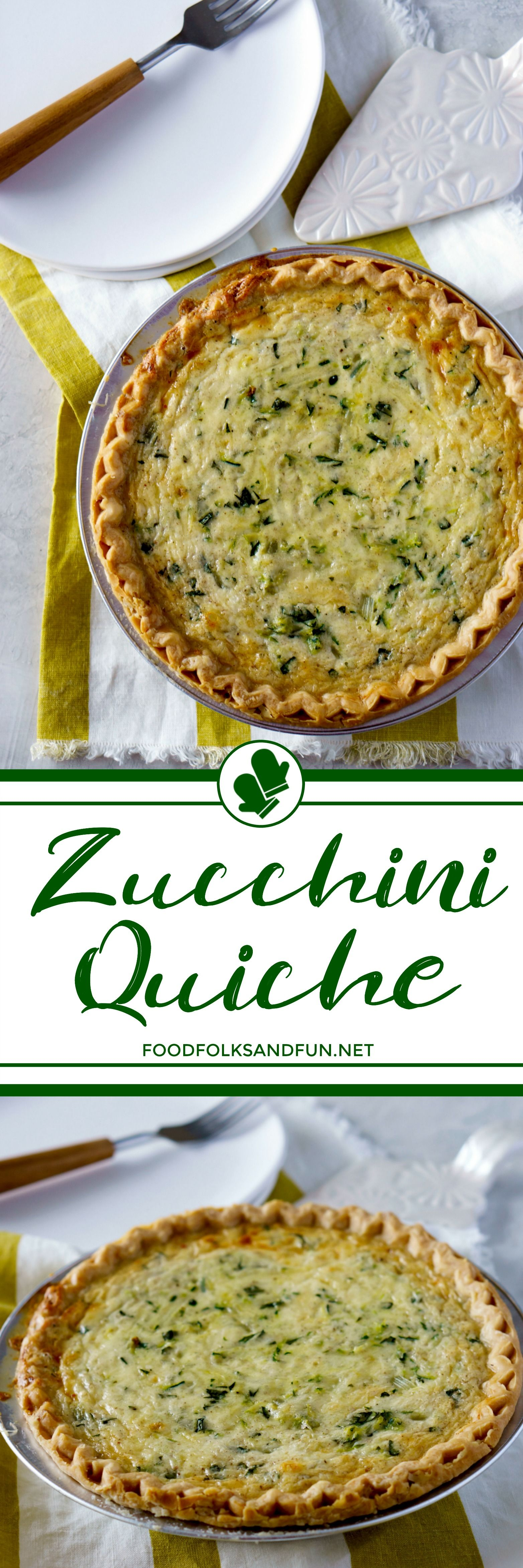 This Cheesy Zucchini Quiche is just the summer dinner recipe to make with fresh, in-season zucchini! Serve it warm or at room temperature for a cool summer supper!