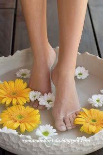 Romã ❧ Hortelã: Receita de escalda-pés para esfoliar e relaxar.