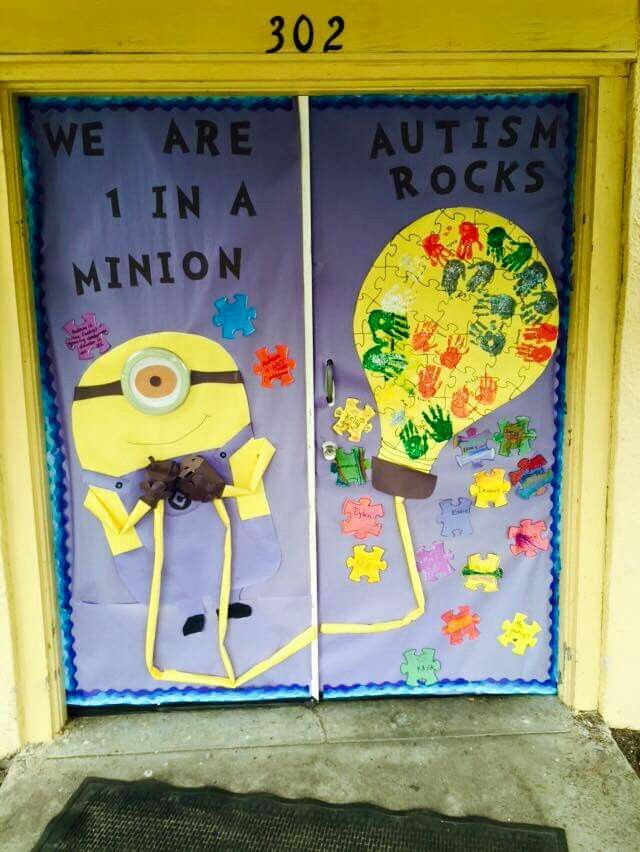 Special Education Classroom Decorations : Autism awareness classroom door decor my teaching