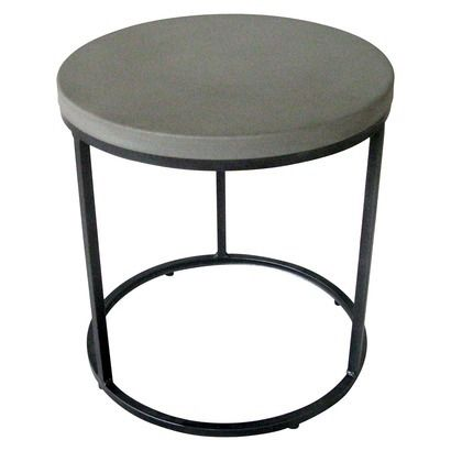 Th Round Faux Concrete Accent Table Accent Table Table Outdoor Side Table