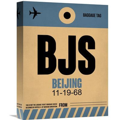 Naxart 'BJS Beijing Luggage Tag 2' Graphic Art on Wrapped Canvas Size: