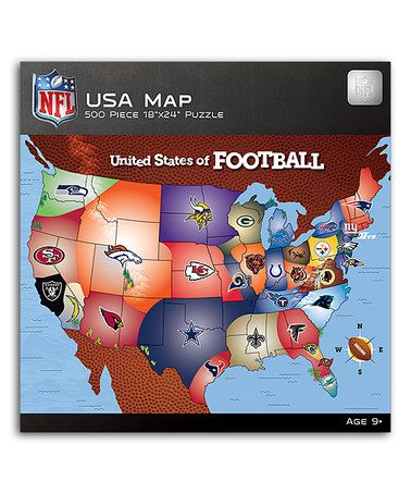 Love this NFL USA Map Puzzle on #zulily! #zulilyfinds | Proud Sports ...