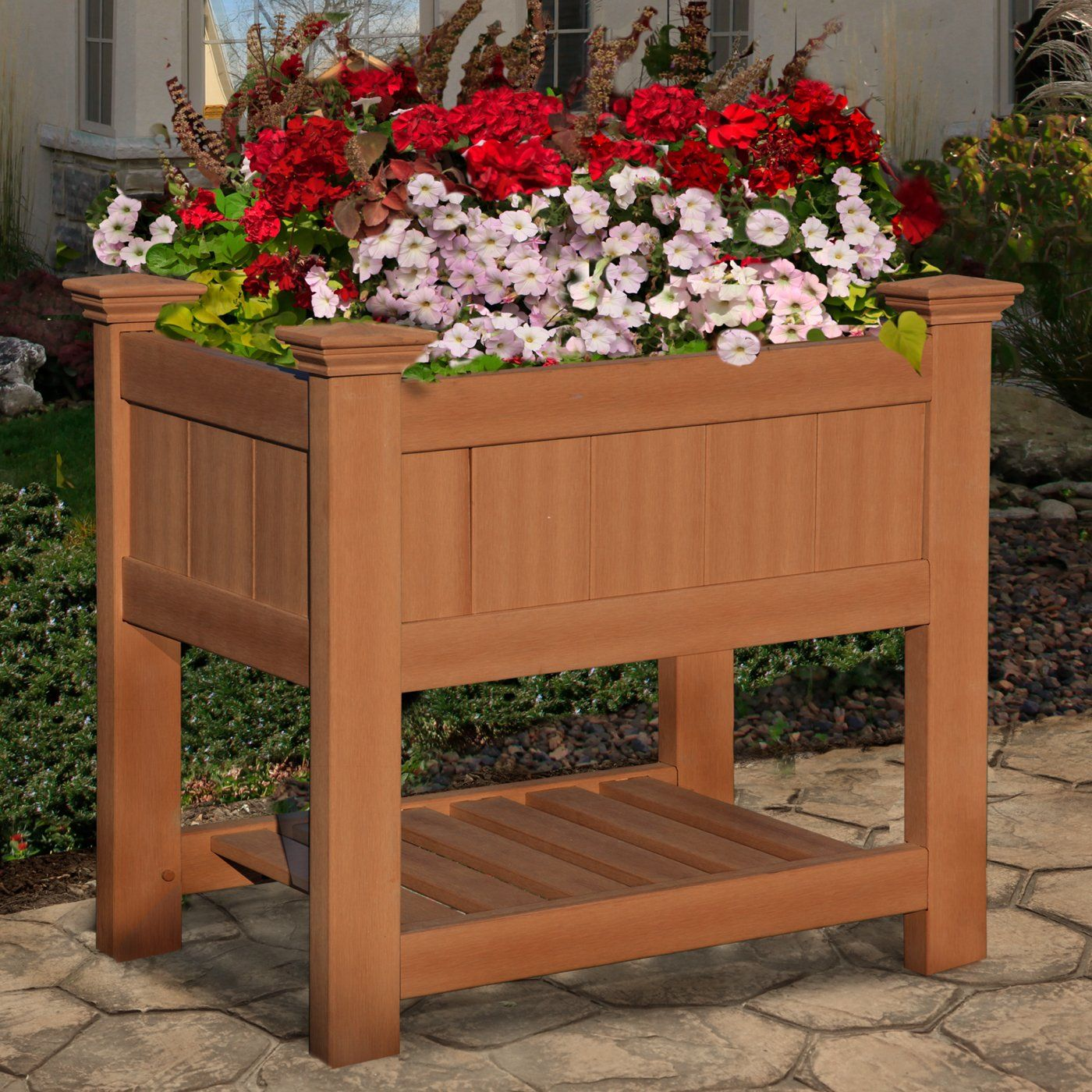 New England Arbors VA84060 Bloomsbury Composite Planter