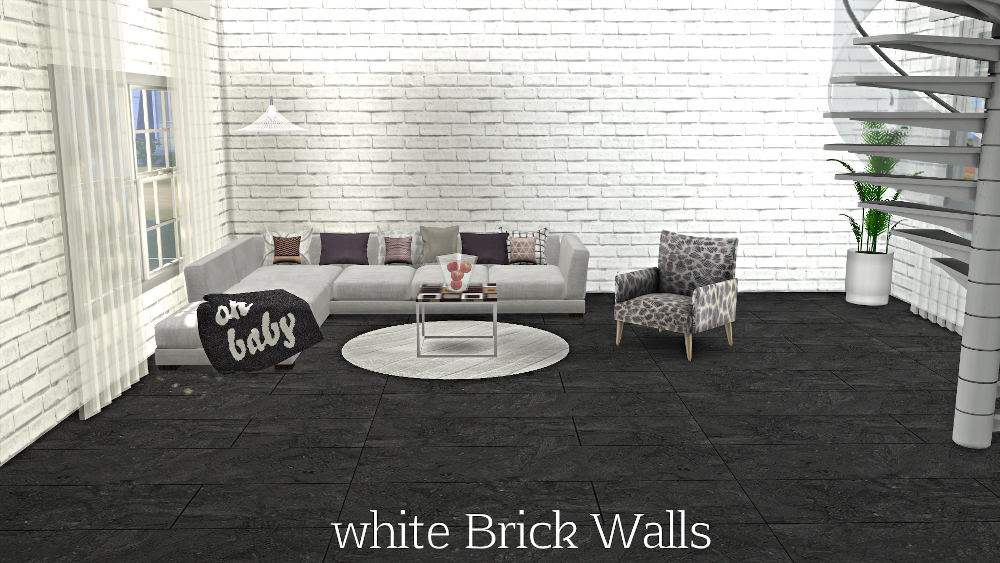 Sims 4 White Brick And Plaster Walls White Brick Plaster Walls White Wood Wall